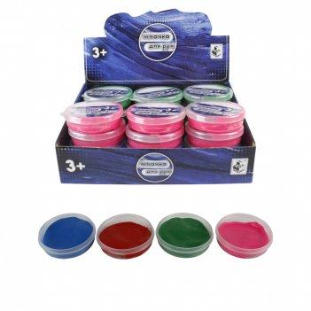 1toy жвачка для рук, 30гр, 4 цвета, упаковка - пластик