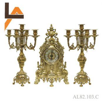 Набор часы, 2 подсвечника «барокко»