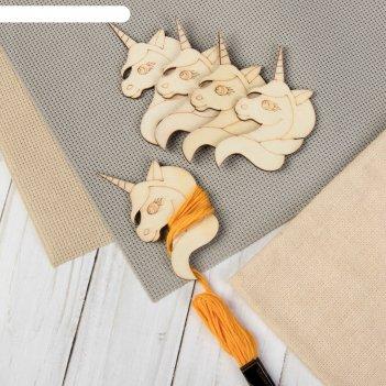 Шпульки для ниток мулине «единороги», 6 x 4 см, 5 шт
