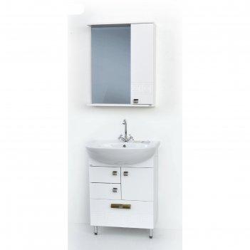 Набор мебели этно 60/3: тумба с раковиной + шкаф-зеркало