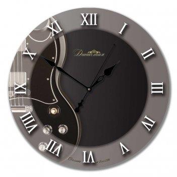 Настенные часы из стекла династия 01-025 гитара