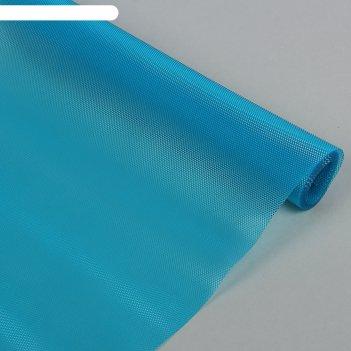Коврик противоскользящий крестики 30х150 см, цвет голубой