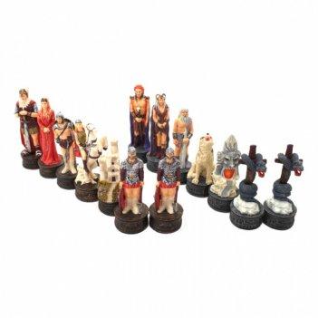 R70697 шахматные фигуры викинги, 8 см