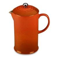 Френч - пресс , объем: 1 л, материал: керамика, цвет: оранжевый, le creuse