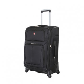 Чемодан wenger sion, чёрный, полиэстер 750x750d добби, 41x26x70 см, 56 л