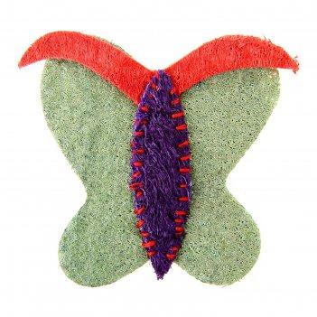 Игрушка из люфы бабочка, 8,5 см, микс цветов