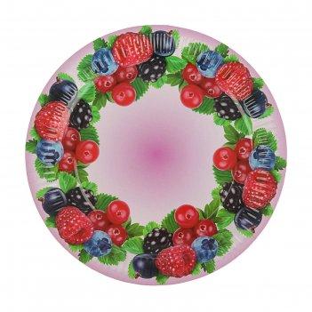 Тарелка с ламинацией ягодный микс 23 см