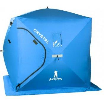 Палатка для зимней рыбалки с нишей для удочек avirex сrystal blue (2 per