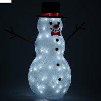 Фигура акрил. снеговик большой 59х28 см, v220 белый