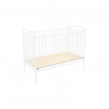 Детская кроватка polini kids vintage 110 металлическая, цвет белый