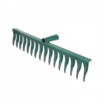 Грабли прямые, повёрнутый зубец, 16 зубцов, металл, тулейка 28 см, без чер