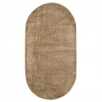 Ковер шегги 10013h beige/beige овал 80х150 см, полипропилен 100%