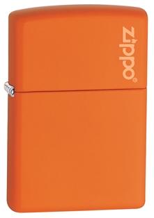 Зажигалка zippo classic, латунь с покрытием orange matte, оранжевый, матов