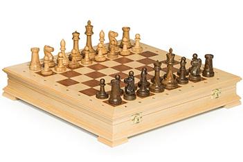 Шахматы стаунтон береза, 44х44см