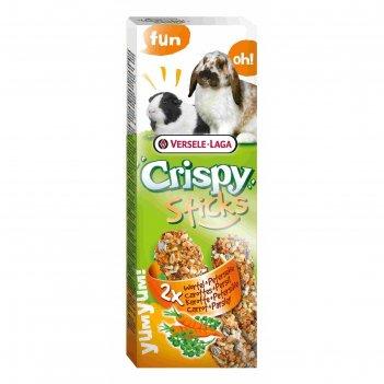 Палочки versele-laga crispy для кроликов и морских свинок, с морковью и пе
