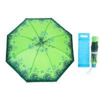 Зонт механический цветы, r=49см, цвет зелёный