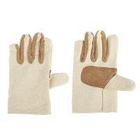 Перчатки х/б, с подкладом, без покрытия, безразмерные, белые