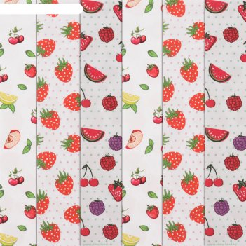 Бумага для творчества «вкус лета», 6 шт, 16 x 16 см