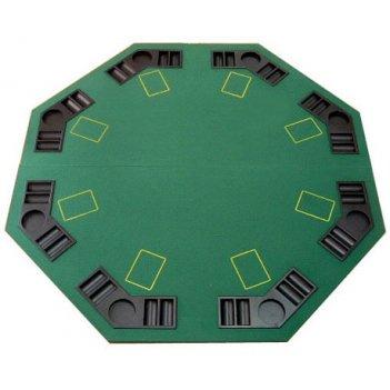 Накладка для покера на стол октагон на 8 игроков
