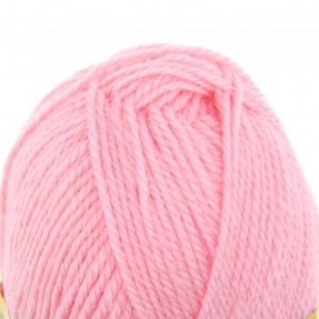 Пряжа бамбино 35% шерсть меринос, 65% акрил 150м/50гр (056, розовый)