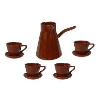 Сервиз кофейный ностальгия малый, турка 0,7л, чашка с блюдцем 0,2л - 4 шт