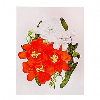 Набор для вышивания лентами цветочки размер основы 30*30 см