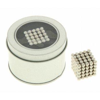 Неокуб серебряный, 125 шариков, d=0,5 см