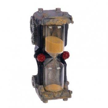 Часы песочные шестеренки, микс песок, полистоун, 5 минут,5 7,5*18,35 см