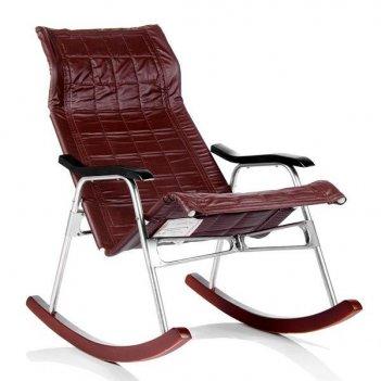 Кресло-качалка складная белтех, к/з коричневый