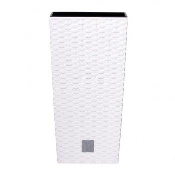Кашпо для цветов prosperplast rato square 49+21л, белый