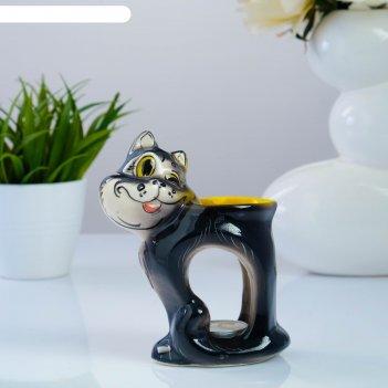 Подсвечник-аромалампа «хитрый кот», тёмный микс