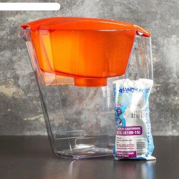 Фильтр для воды 2,8 л аквафор лайн, цвет оранжевый