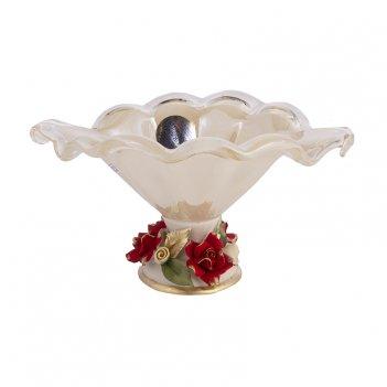 Ваза для конфет н/н 24х18х14см.в.кристал барокко