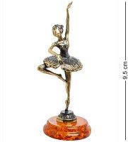 Am-1545 фигурка балерина (латунь, янтарь)