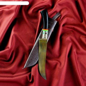 Нож пчак шархон - большой, эбонит, сухма, гарда мельхиор. шх-15 (17-18 см)
