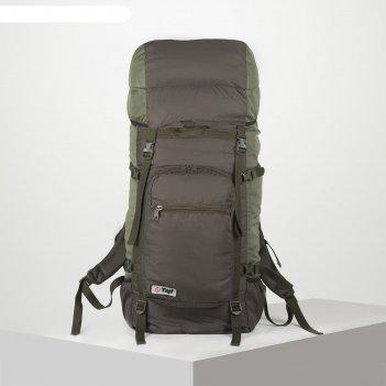 Рюкзак тур оптимал 3, 90л, отд на шнурке, н/карман, 2 бок сетки, олива