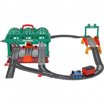 Игровой набор «кнэпфордская станция» паровоз, вагон, станция