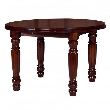 Стол кухонный раздвижной соло 1200/1550х800х750 бук/цвет темный орех