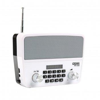 Радиоприемник сигнал рп-232, fm 88-108 мгц, аккумулятор, 220 в, usb, sd, a
