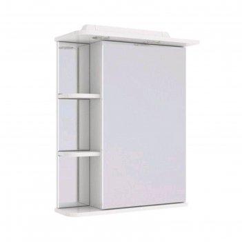 Зеркало шкаф garda zefiro 55, цвет белый глянец