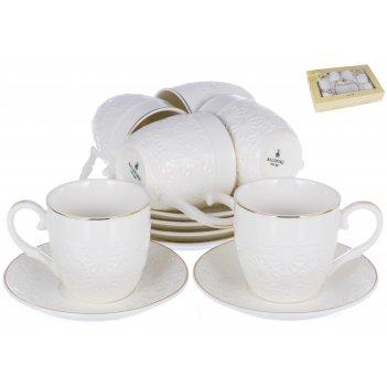 Набор кофейный грация «снежана» 100 мл, 12 предметов