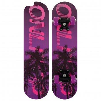 Скейтборд подростковый пальмы 62х16 см, колеса pvc 50 мм, пластиковая рама