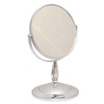 Зеркало b6 806 s3/c silver настольное 2-стор. 5-кр.ув.15 см.