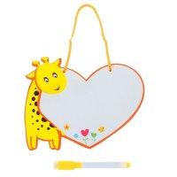 Доска для рисования жирафик + черный маркер со стиралкой