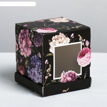 Коробка под капкейк love, 9 x 10 x 9 см