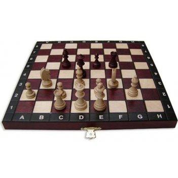 "Шахматы + шашки + нарды ""магнит"" (польша, дерево, 27х13,"