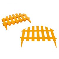 Забор декоративный, 40х34,5 см, 7 секций, длина 2,67 м, цвет жёлтый уютный