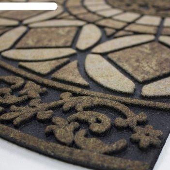 Коврик придверный 58,5х89 см, gothic iron slice готический узор