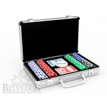 Набор на 200 покерных чипов повышенного качества dice premium