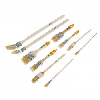 наборы кистей с деревянной ручкой